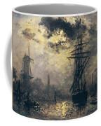 The Windmills In Rotterdam Coffee Mug by Johan Barthold Jongkind