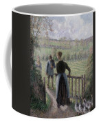 The Woman With The Geese Coffee Mug by Camille Pissarro