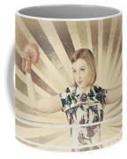 Tough Vintage Boxing Girl Winning Round In Gloves Coffee Mug by Jorgo Photography - Wall Art Gallery