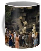 Tourists Watch Captive Polar Bears Coffee Mug by B. Anthony Stewart