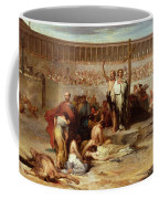 Triumph Of Faith    Christian Martyrs In The Time Of Nero Coffee Mug by Eugene Romain Thirion