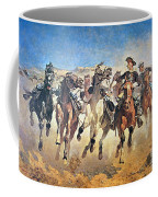 Troopers Moving Coffee Mug by Frederic Remington