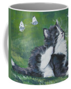 Tuxedo Kitten Coffee Mug by Lee Ann Shepard