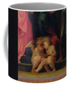 Two Cherubs Reading Detail From Madonna And Child With Saints Coffee Mug by Giovanni Battist Rosso Fiorentino