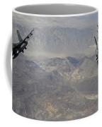 Two F-16 Fighting Falcons Break Coffee Mug by Stocktrek Images