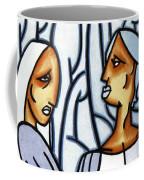 Two Ladies Coffee Mug by Thomas Valentine