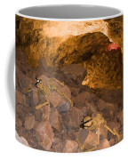Two Skeletons Crawl Up A Rocky Hill Coffee Mug by Taylor S. Kennedy