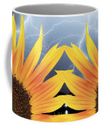 Two Sunflower Lightning Storm Coffee Mug by James BO  Insogna