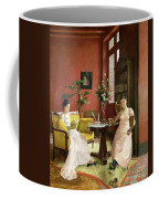 Two Women Reading In An Interior  Coffee Mug by Jean Georges Ferry