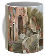 Un Caffe Al Fresco Sulla Salita Coffee Mug by Guido Borelli