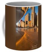 Under The Bean And Chicago Skyline At Sunrise Coffee Mug by Sven Brogren
