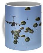 U.s. Army Paratroopers Jumping Coffee Mug by Stocktrek Images