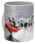 U.s. Coast Guardsmen Aboard A Security Coffee Mug by Stocktrek Images