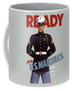 Us Marines - Ready Coffee Mug by War Is Hell Store