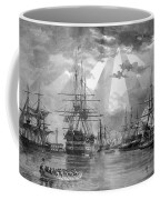 U.s. Naval Ships At The Brooklyn Navy Yard Coffee Mug by War Is Hell Store