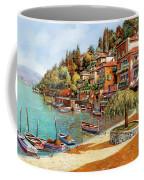 Varenna On Lake Como Coffee Mug by Guido Borelli