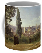 View Of Florence From The Boboli Gardens Coffee Mug by Jean Baptiste Camille Corot