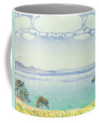 View Of Lake Leman From Chexbres Coffee Mug by Ferdinand Hodler