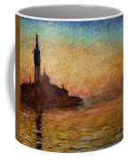 View Of San Giorgio Maggiore Coffee Mug by Claude Monet