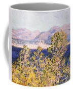 View Of The Cap Dantibes With The Mistral Blowing Coffee Mug by Claude Monet