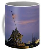 View Of The Iwo Jima Monument Coffee Mug by Kenneth Garrett