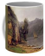 Vue Du Lac Leman Coffee Mug by Gustave Courbet