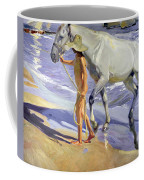 Washing The Horse Coffee Mug by Joaquin Sorolla y Bastida