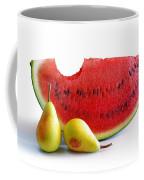 Watermelon And Pears Coffee Mug by Carlos Caetano