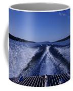 Waves Left In The Wake Of A Boat Coffee Mug by Kenneth Garrett