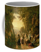 Weeping Of The Daughter Of Jephthah Coffee Mug by Narcisse Virgile Diaz de la Pena