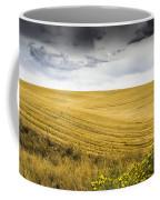 Wheat Fields With Storm Coffee Mug by John Trax