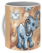 Whimsical Pop Art Childrens Nursery Original Elephant Painting Adorable By Madart Coffee Mug by Megan Duncanson
