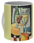 White Wine And Cheese Coffee Mug by Tim Nyberg