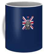 Winston Churchill And His Flag Coffee Mug by War Is Hell Store