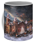 Winter - Clinton Nj - Silent Night  Coffee Mug by Mike Savad