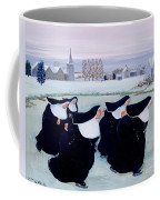 Winter At The Convent Coffee Mug by Margaret Loxton