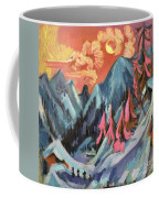 Winter Landscape In Moonlight Coffee Mug by Ernst Ludwig Kirchner