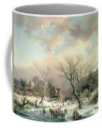 Winter Scene   Coffee Mug by Johannes Petrus van Velzen