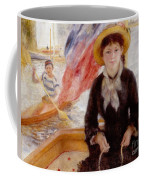 Woman In Boat With Canoeist Coffee Mug by Renoir