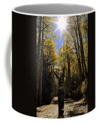 Woman In The Falling Leaves Coffee Mug by Dawn Kish