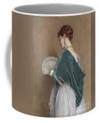 Woman With A Fan Coffee Mug by John Dawson Watson