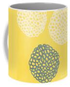 Yellow And Gray Garden Bloom Coffee Mug by Linda Woods