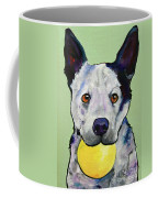 Yellow Ball Coffee Mug by Pat Saunders-White