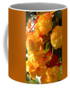 Yellow Begonia Flowers.  Victoria Coffee Mug by Darlyne A. Murawski