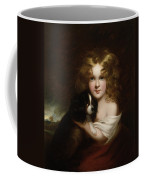 Young Girl With A Dog Coffee Mug by Margaret Sarah Carpenter