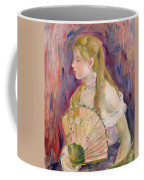 Young Girl With A Fan Coffee Mug by Berthe Morisot