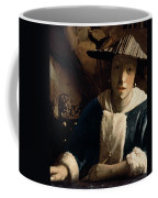 Young Girl With A Flute Coffee Mug by Jan Vermeer