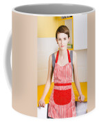 Young House Wife On Yellow Kitchen Background Coffee Mug by Jorgo Photography - Wall Art Gallery