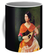 Young Woman With A Mandolin Coffee Mug by Vekoslav Karas