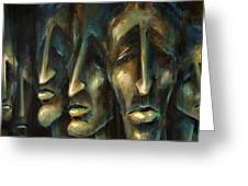 ' Jury Of Eight ' Greeting Card by Michael Lang